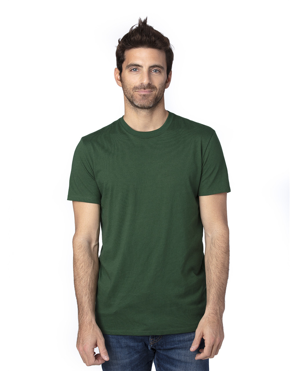 Forest Green - 100A Threadfast Unisex Ultimate Short-Sleeve T-Shirt | BlankClothing.ca