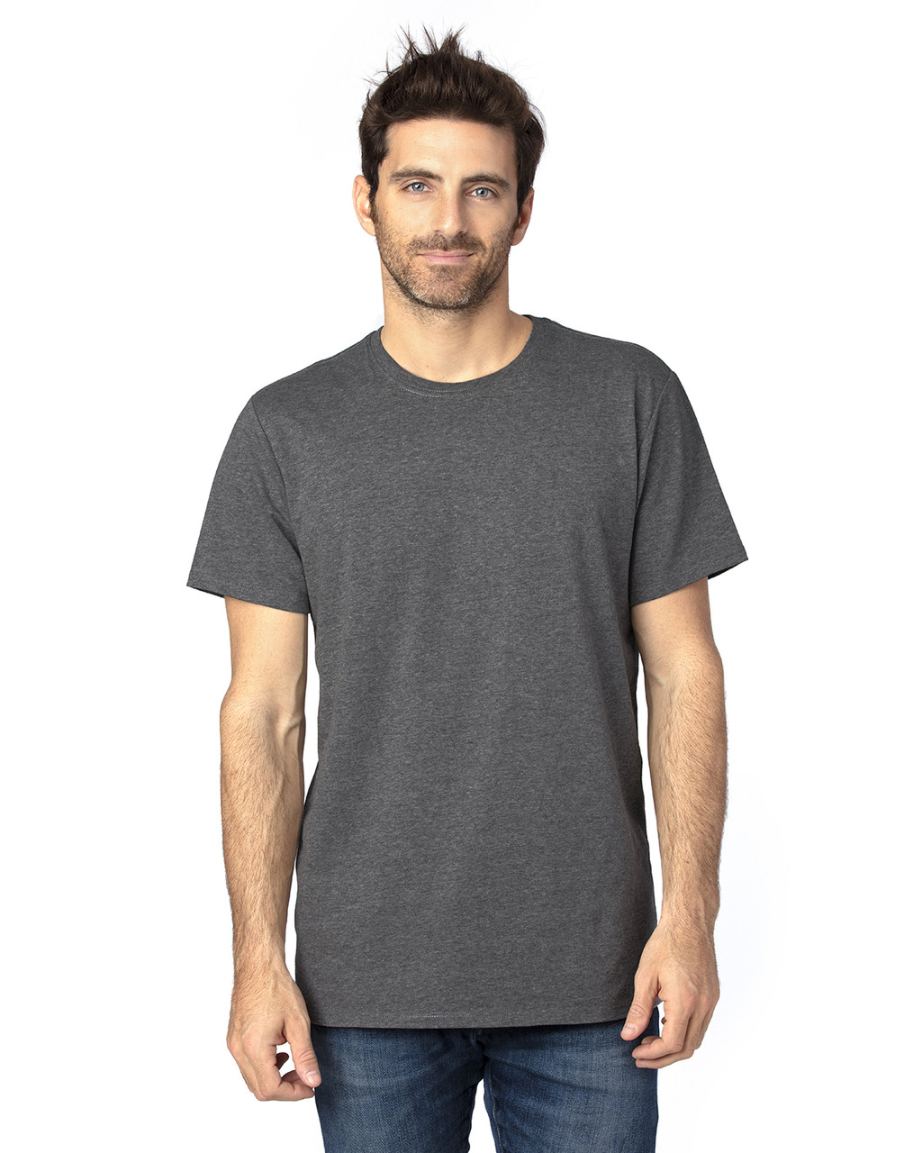 Charcoal Heather - 100A Threadfast Unisex Ultimate Short-Sleeve T-Shirt | BlankClothing.ca