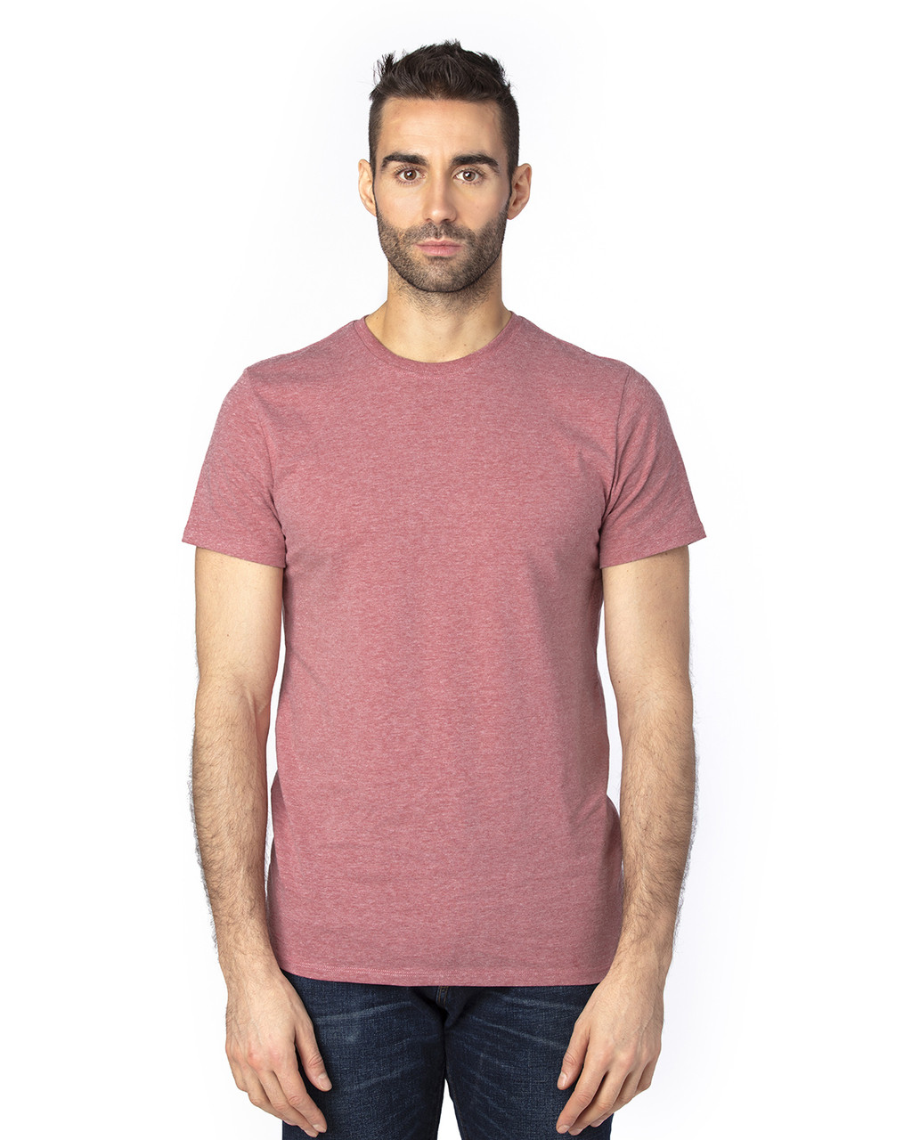 Maroon Heather - 100A Threadfast Unisex Ultimate Short-Sleeve T-Shirt | BlankClothing.ca