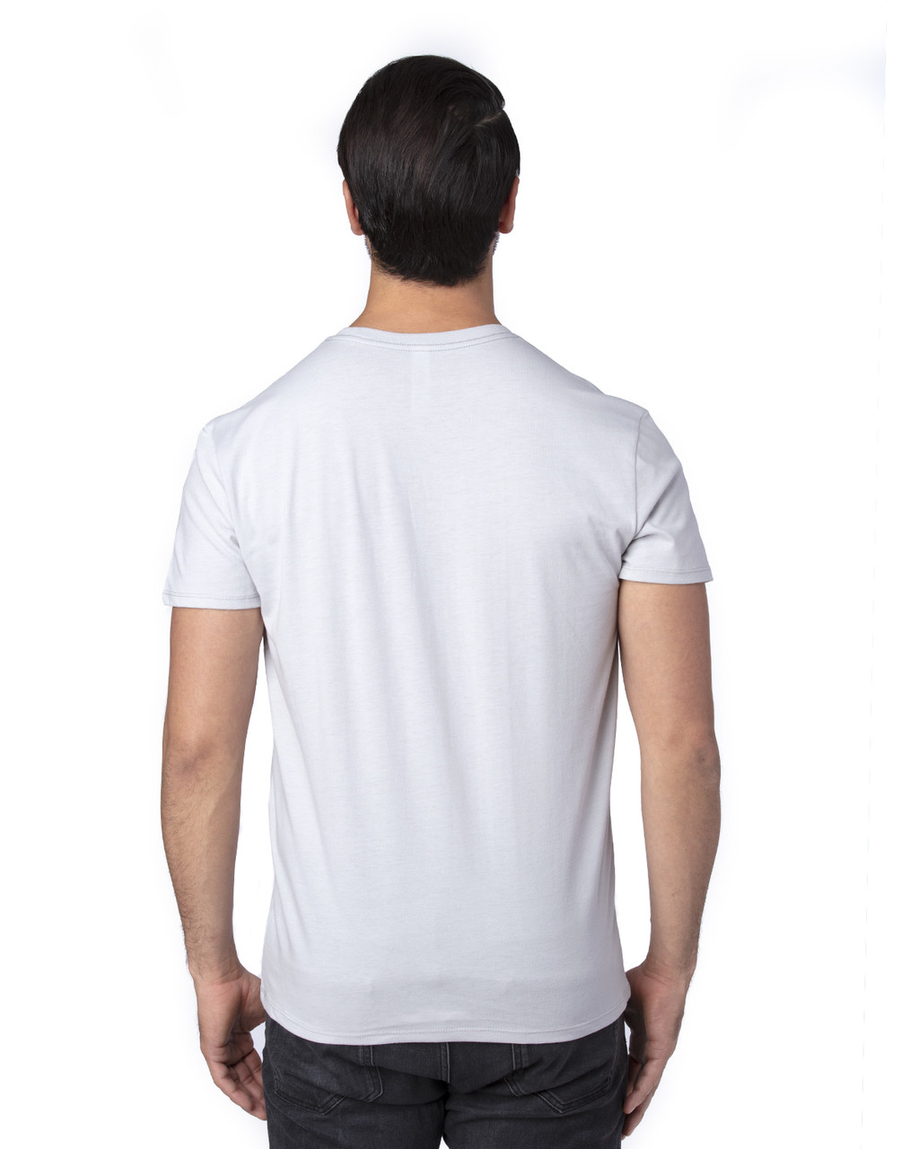 Silver - Back, 100A Threadfast Unisex Ultimate Short-Sleeve T-Shirt | BlankClothing.ca