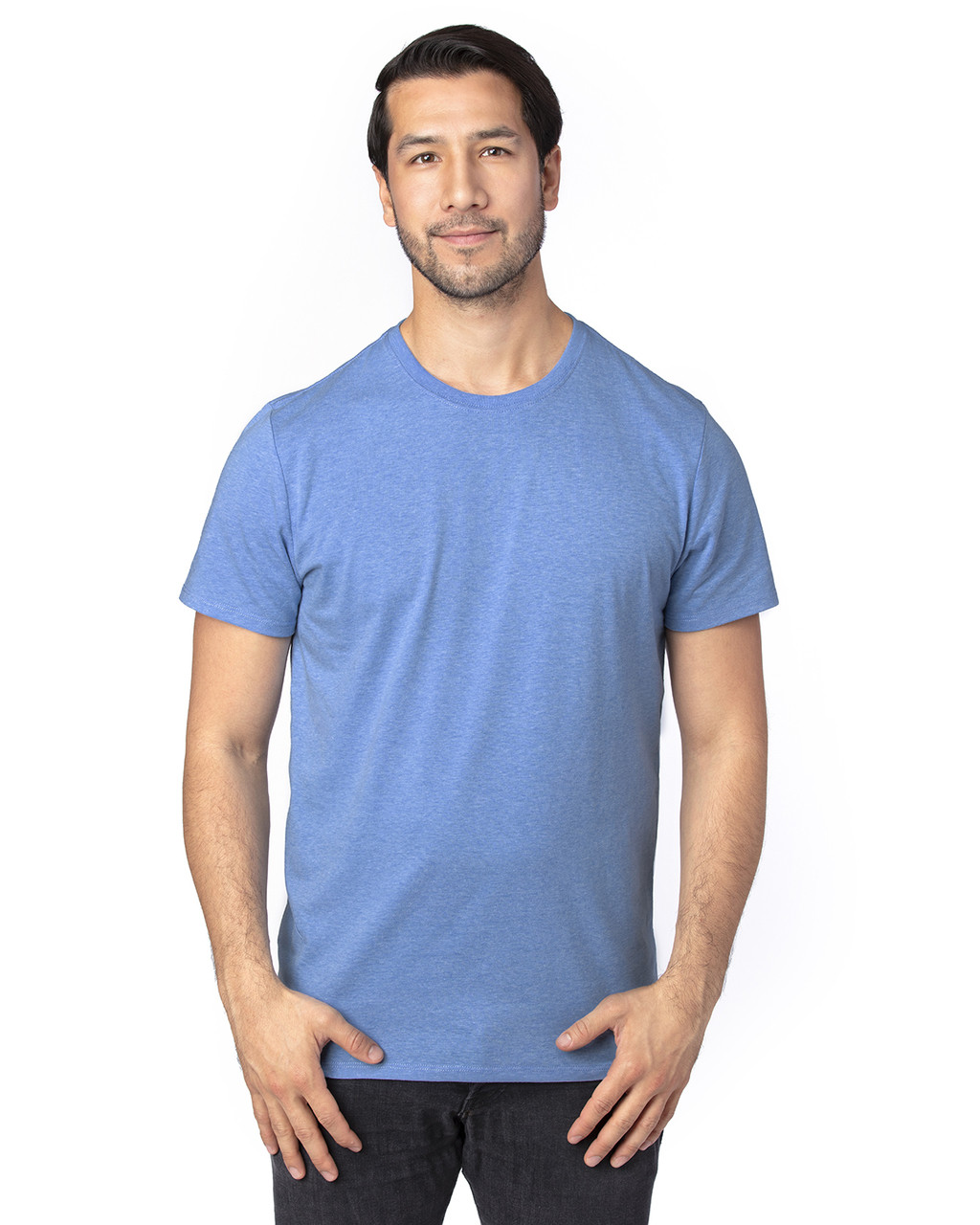 Royal Heather - 100A Threadfast Unisex Ultimate Short-Sleeve T-Shirt | BlankClothing.ca