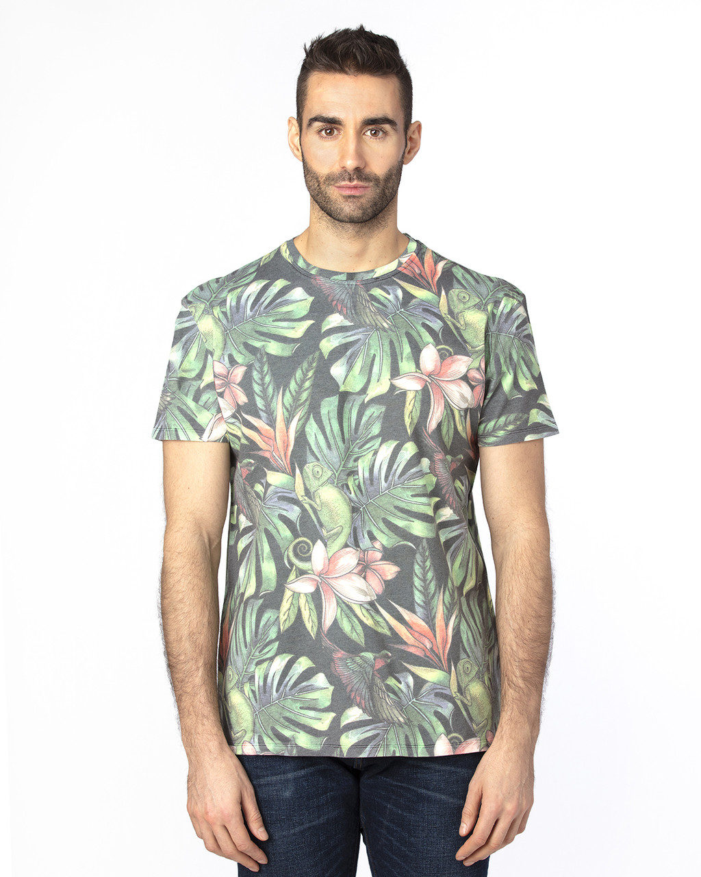 Tropical Jungle - 100A Threadfast Unisex Ultimate Short-Sleeve T-Shirt | BlankClothing.ca