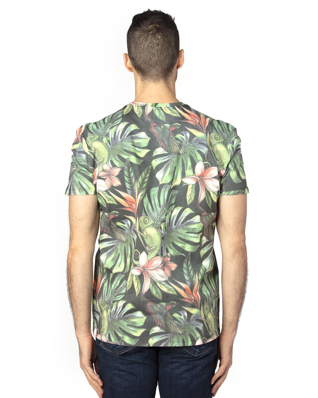 Tropical Jungle -Back, 100A Threadfast Unisex Ultimate Short-Sleeve T-Shirt | BlankClothing.ca