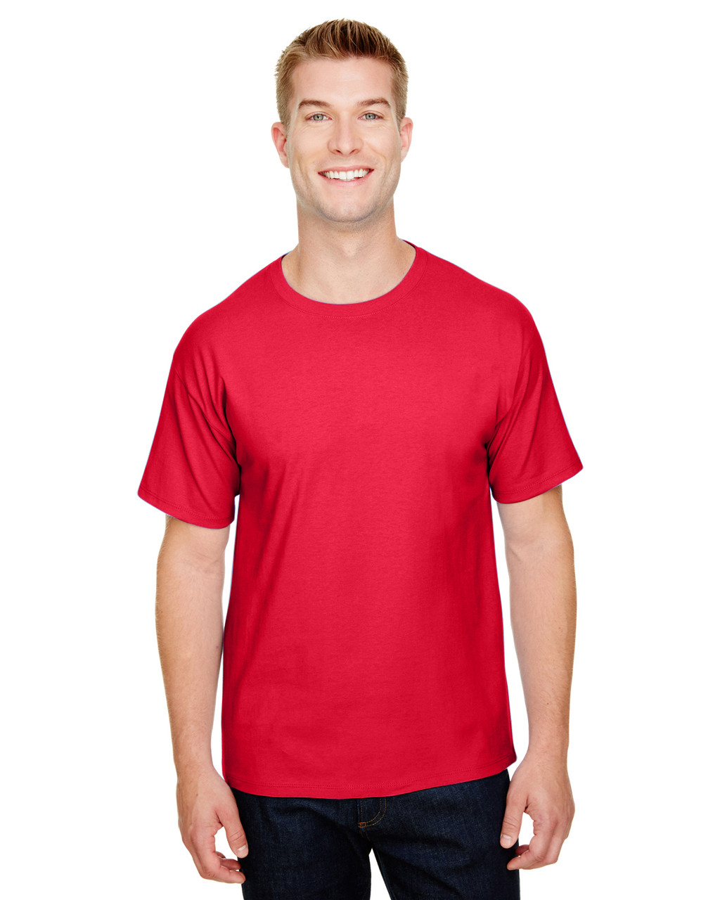 Athletic Red - CP10 Champion Adult Ringspun Cotton T-Shirt   BlankClothing.ca