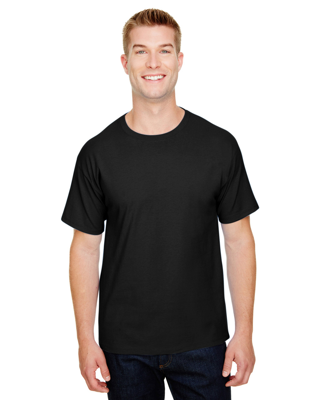Black - CP10 Champion Adult Ringspun Cotton T-Shirt | BlankClothing.ca