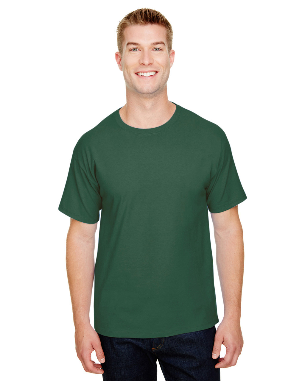 Dark Green - CP10 Champion Adult Ringspun Cotton T-Shirt | BlankClothing.ca