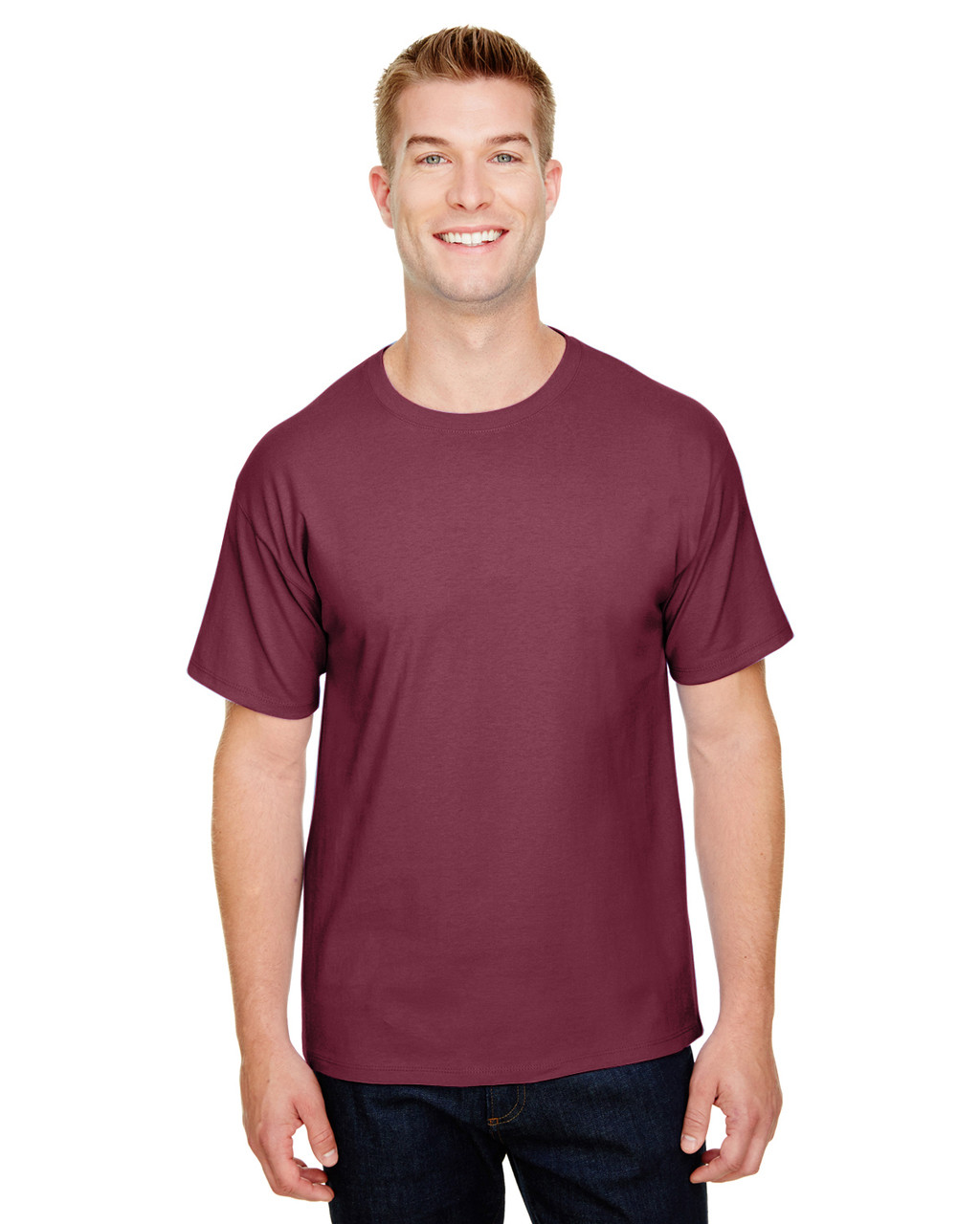 Maroon - CP10 Champion Adult Ringspun Cotton T-Shirt | BlankClothing.ca