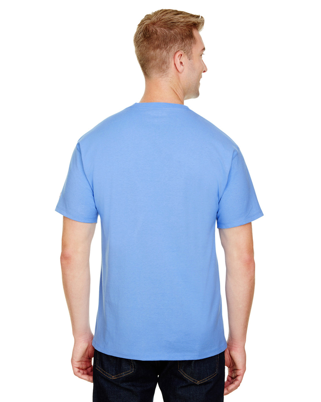 Light Blue - CP10 Champion Adult Ringspun Cotton T-Shirt | BlankClothing.ca