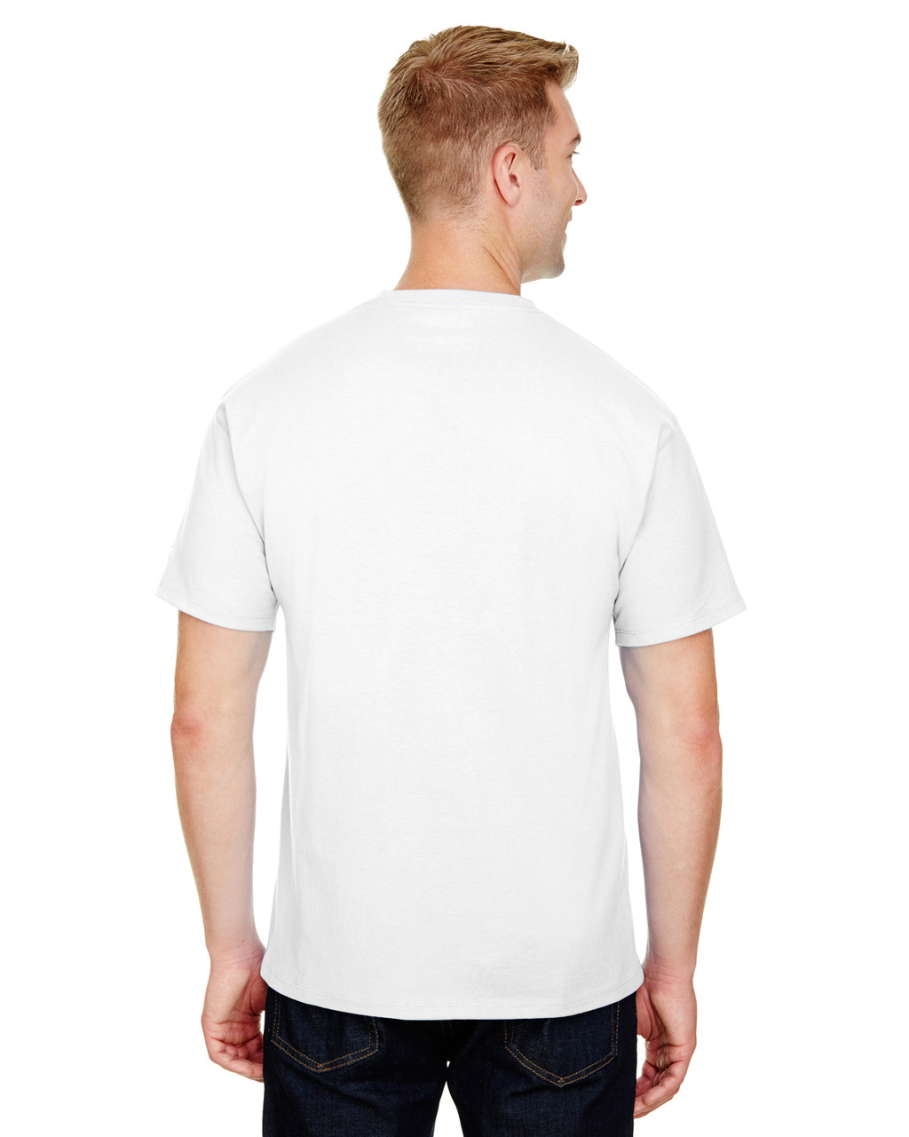 White - CP10 Champion Adult Ringspun Cotton T-Shirt | BlankClothing.ca
