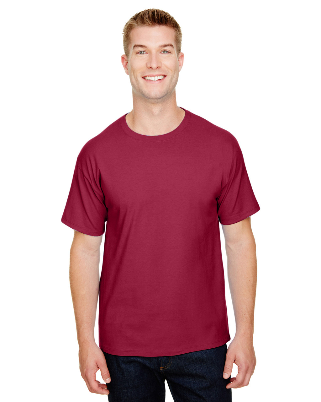 True Cardinal - CP10 Champion Adult Ringspun Cotton T-Shirt | BlankClothing.ca