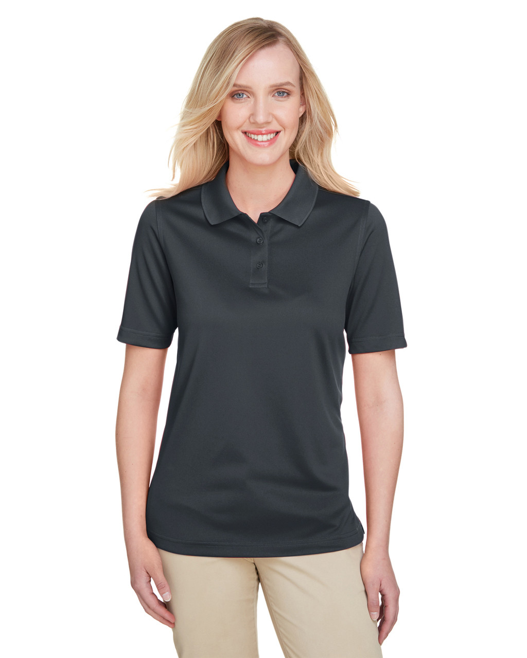 Dark Charcoal - M348W Harriton Ladies' Advantage Snag Protection Plus IL Polo Shirt | Blankclothing.ca