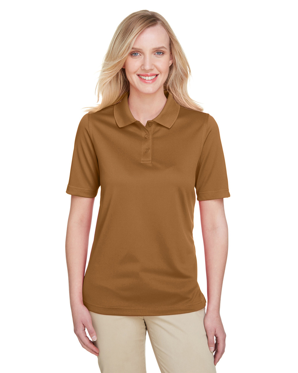 Duck Brown - M348W Harriton Ladies' Advantage Snag Protection Plus IL Polo Shirt | Blankclothing.ca
