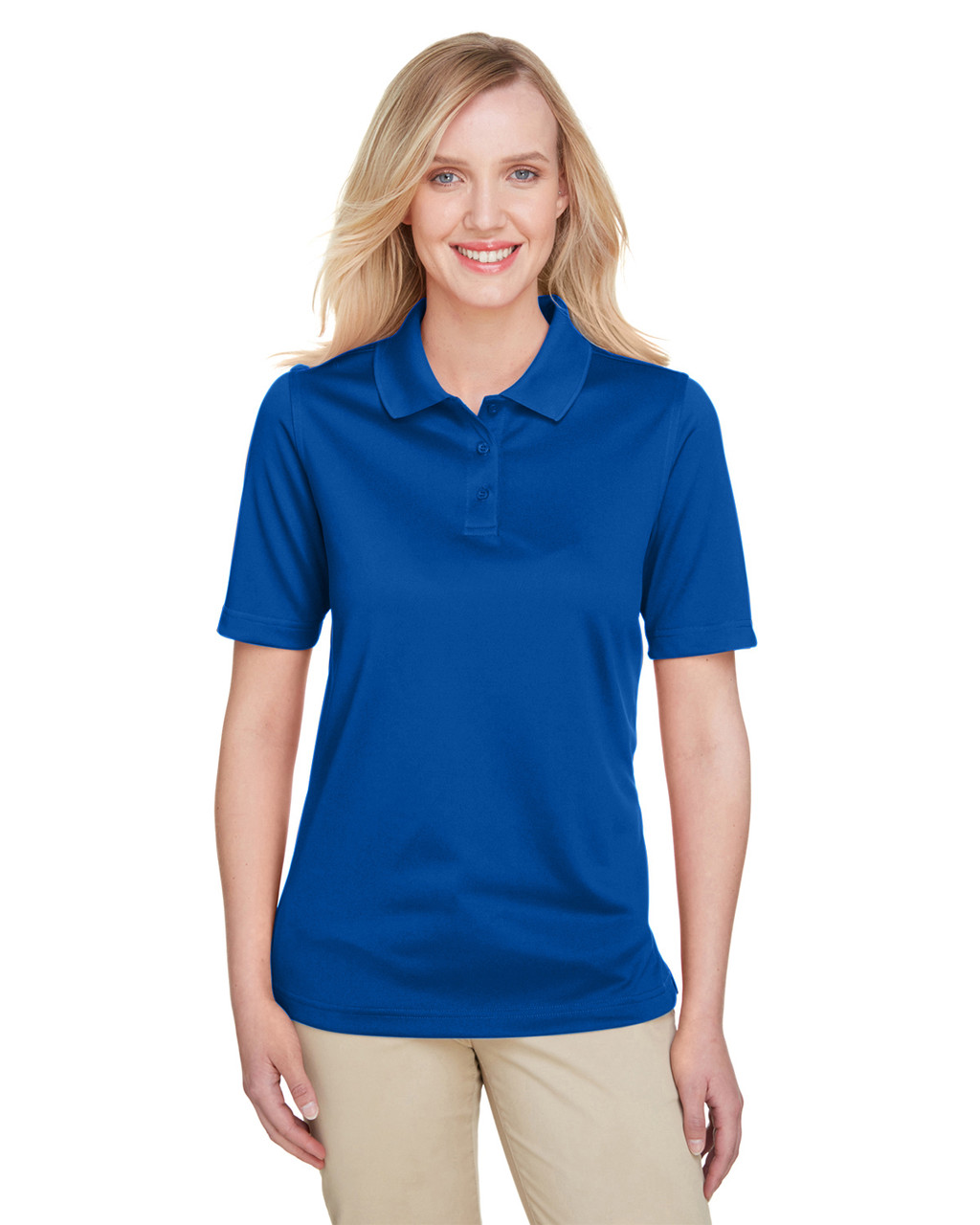 True Royal - M348W Harriton Ladies' Advantage Snag Protection Plus IL Polo Shirt | Blankclothing.ca