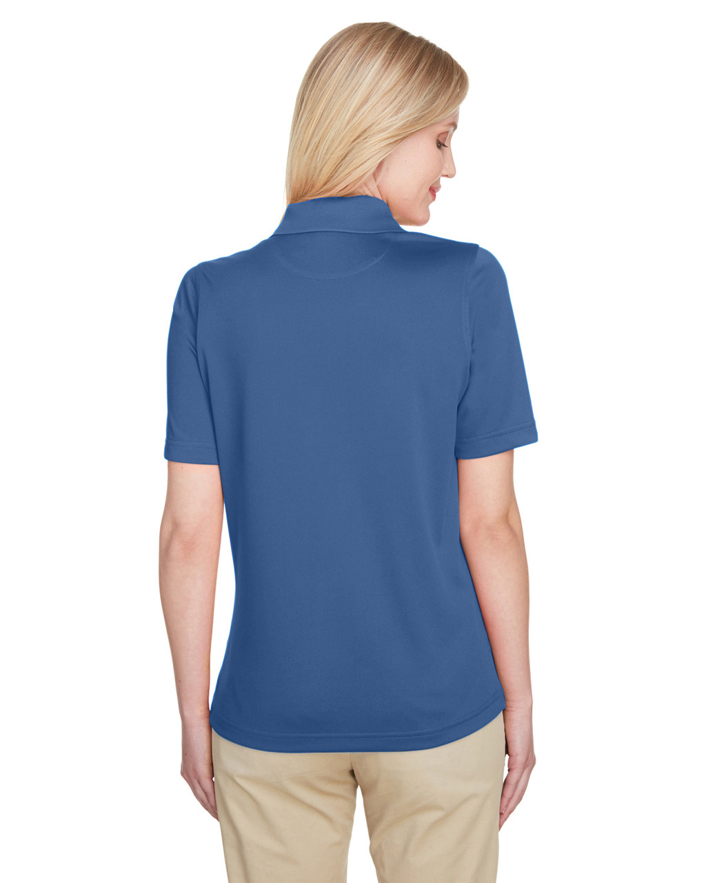 Pool Blue - Back, M348W Harriton Ladies' Advantage Snag Protection Plus IL Polo Shirt | Blankclothing.ca