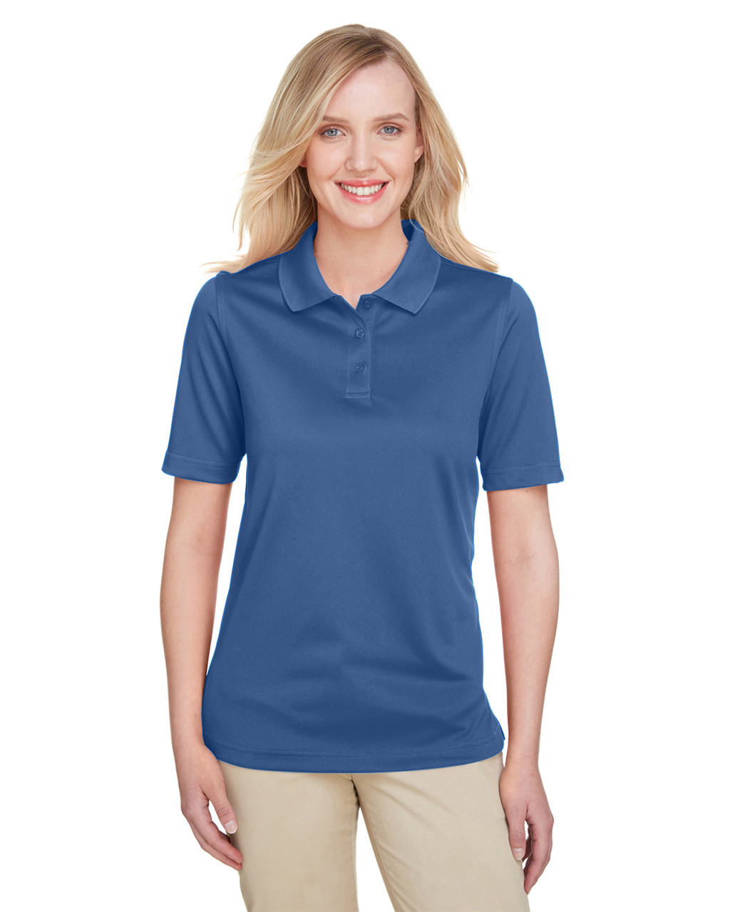 Pool Blue - M348W Harriton Ladies' Advantage Snag Protection Plus IL Polo Shirt | Blankclothing.ca