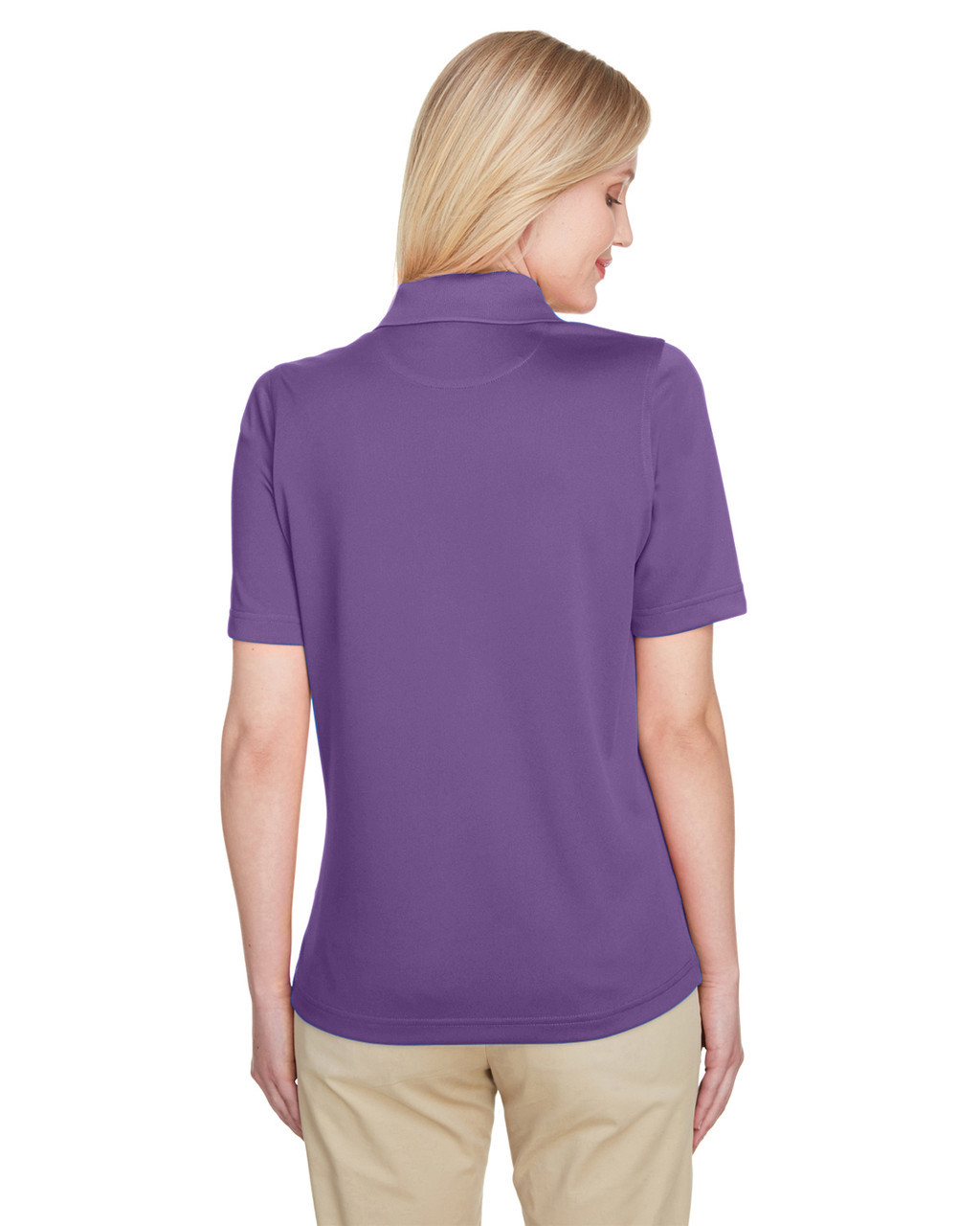 Team Purple - Back, M348W Harriton Ladies' Advantage Snag Protection Plus IL Polo Shirt | Blankclothing.ca
