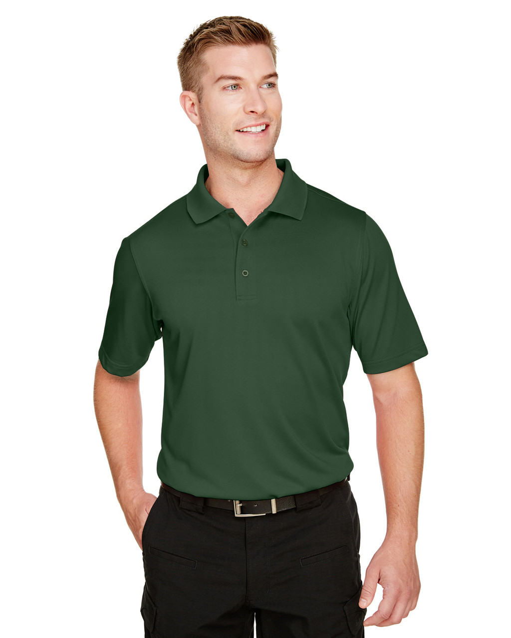 Dark Green - M348 Harriton Men's Advantage Snag Protection Plus IL Polo Shirt | BlankClothing.ca
