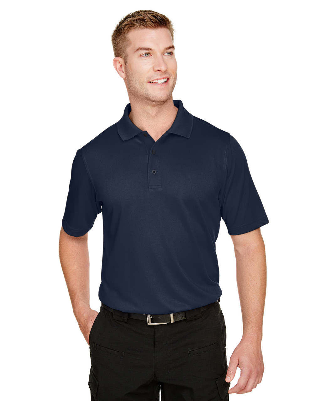 Dark Navy - M348 Harriton Men's Advantage Snag Protection Plus IL Polo Shirt | BlankClothing.ca