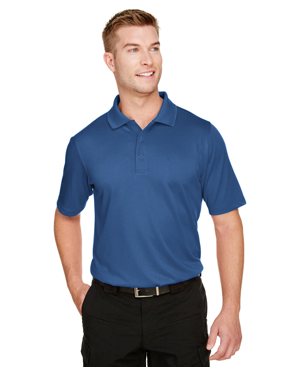 Pool Blue - M348 Harriton Men's Advantage Snag Protection Plus IL Polo Shirt | BlankClothing.ca