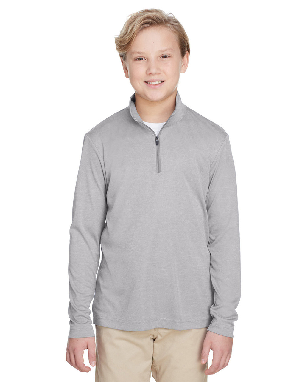 Athletic Heather - TT31HY Team 365 Youth Zone Sonic Heather Performance Quarter-Zip Athletic Shirt | BlankClothing.ca