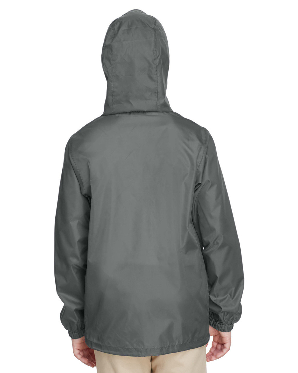 Sport Graphite, Back - TT73Y Team 365 Youth Zone Protect Lightweight Jacket  | BlankClothing.ca