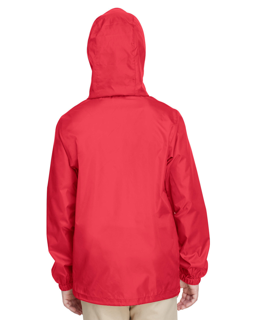 Sport Red, Back - TT73Y Team 365 Youth Zone Protect Lightweight Jacket  | BlankClothing.ca