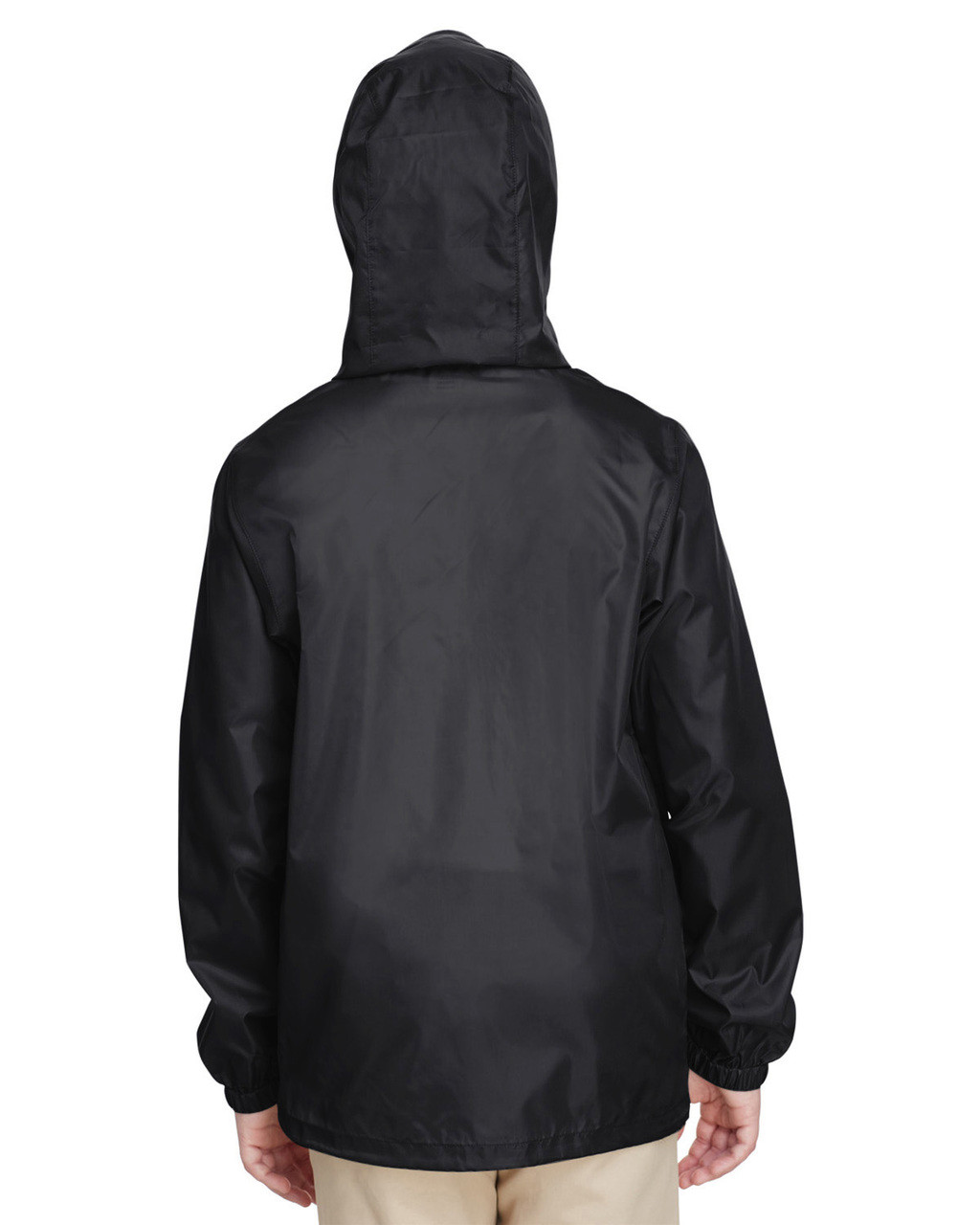 Black, Back - TT73Y Team 365 Youth Zone Protect Lightweight Jacket  | BlankClothing.ca
