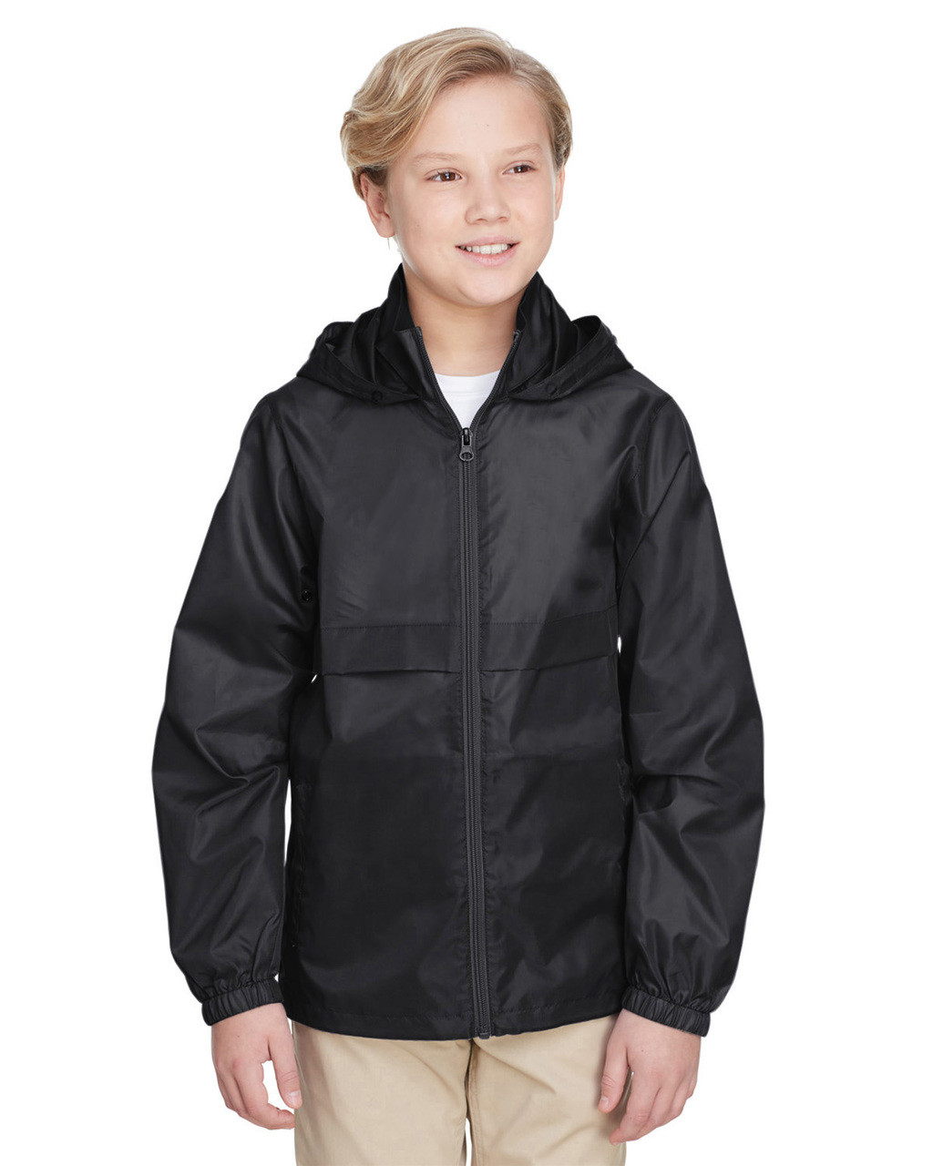 Black - TT73Y Team 365 Youth Zone Protect Lightweight Jacket  | BlankClothing.ca