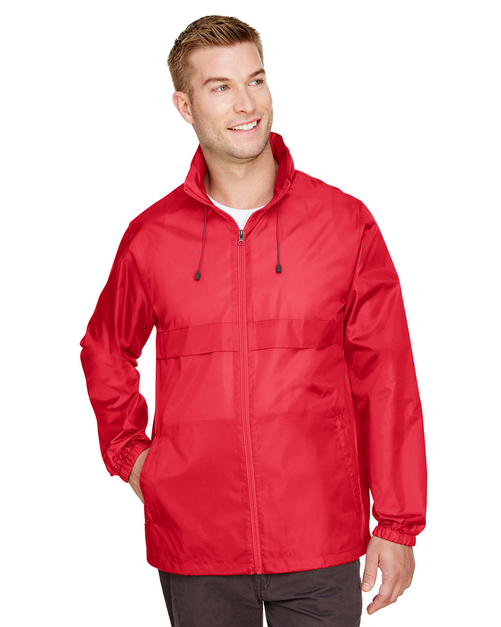 Sport Red - TT73 Team 365 Adult Zone Protect Lightweight Jacket   BlankClothing.ca