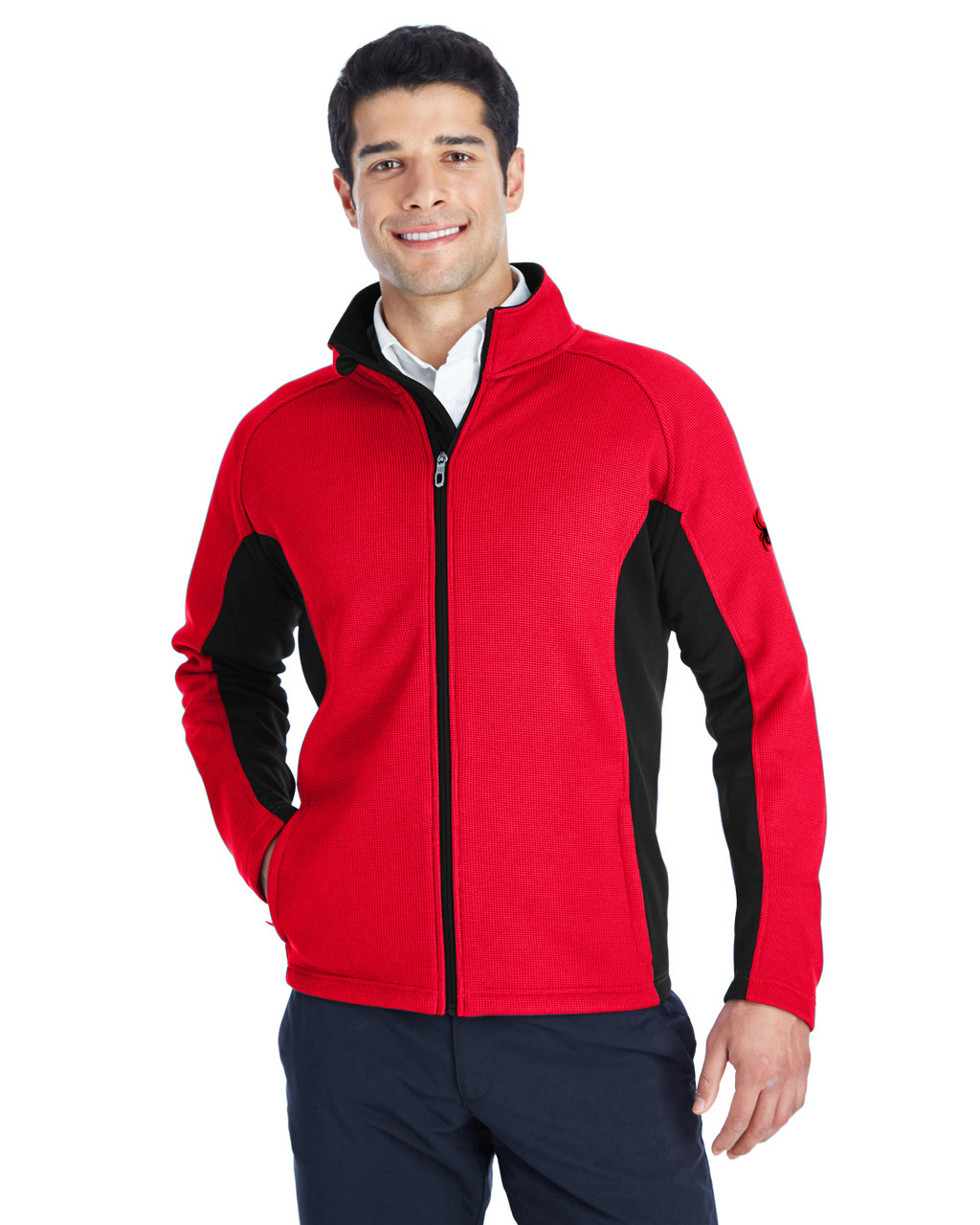 Red/Black/Black - 187330 Spyder Constant Full-Zip Sweater | BlankClothing.ca