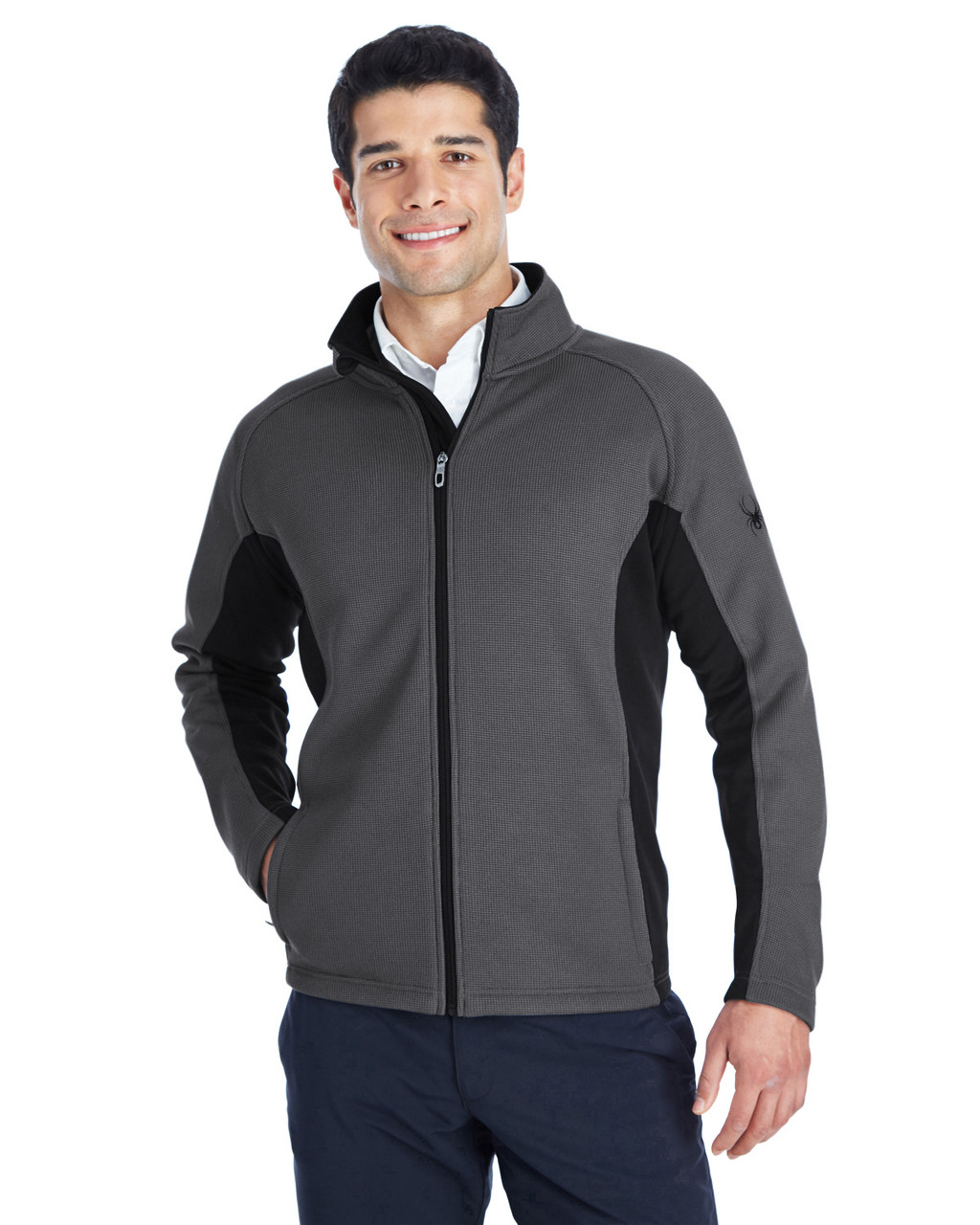 Polar/Black/Black - 187330 Spyder Constant Full-Zip Sweater | BlankClothing.ca