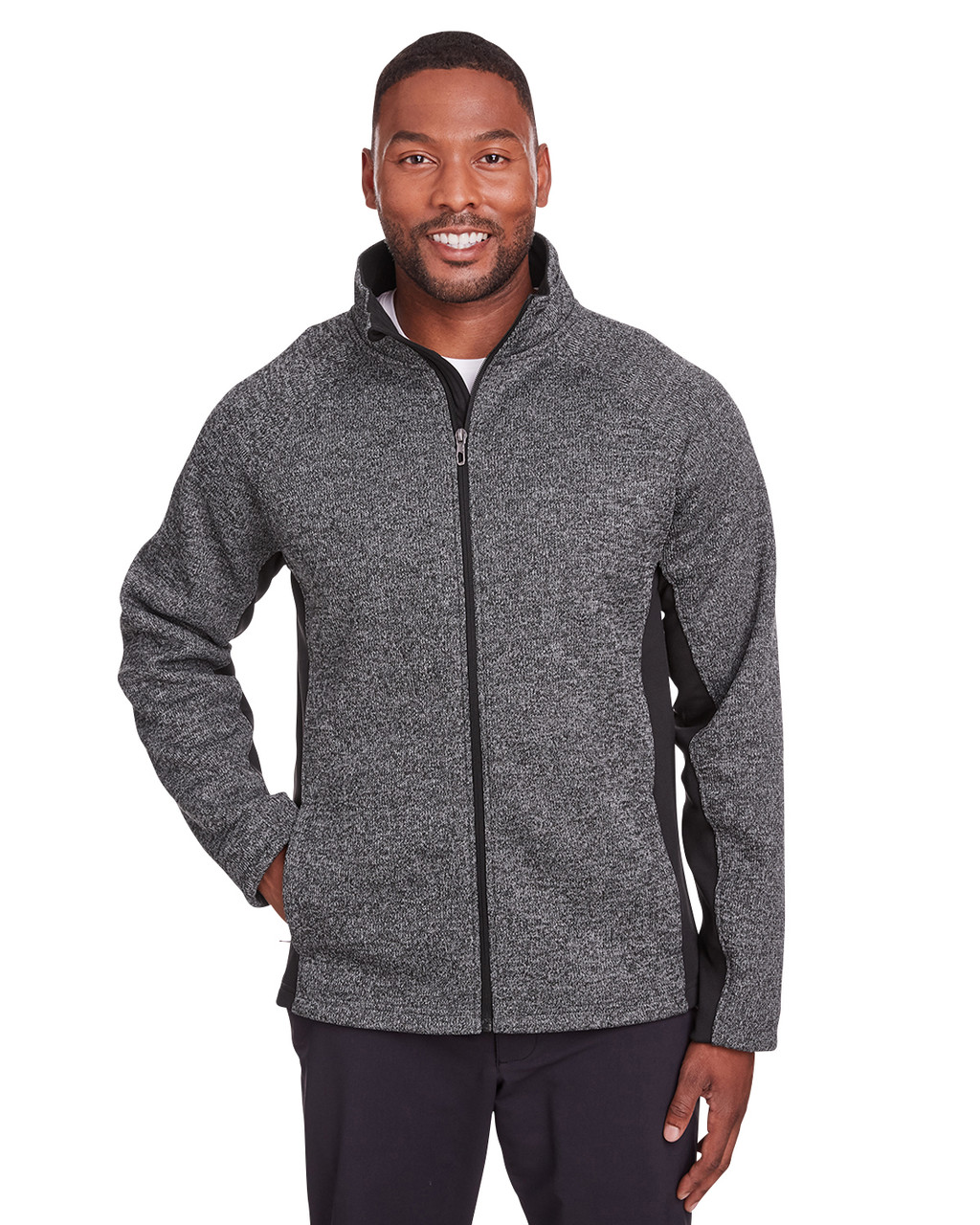Black Heather/ Black - 187330 Spyder Constant Full-Zip Sweater | BlankClothing.ca