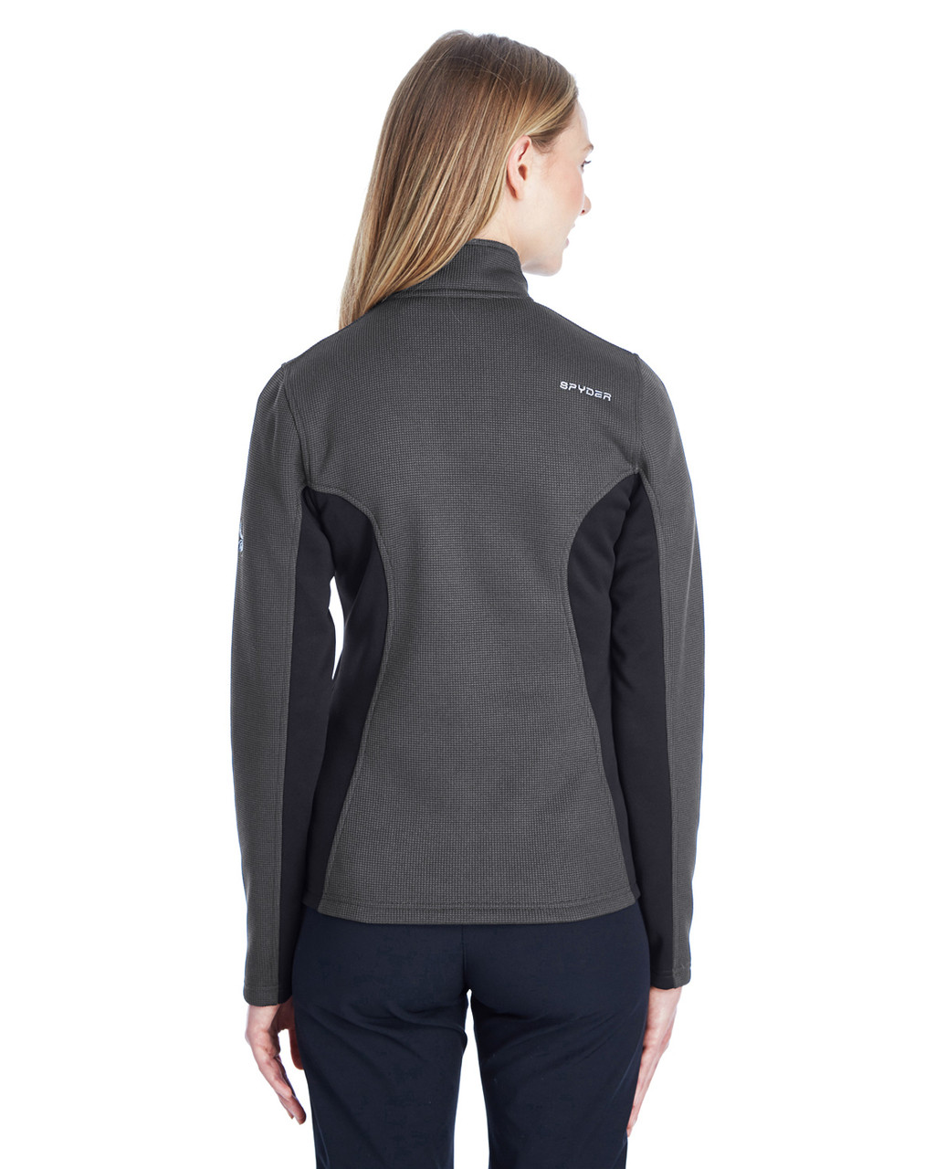 Polar/Black/White, Back  187335 Spyder Ladies' Constant Full-Zip Sweater | BlankClothing.ca