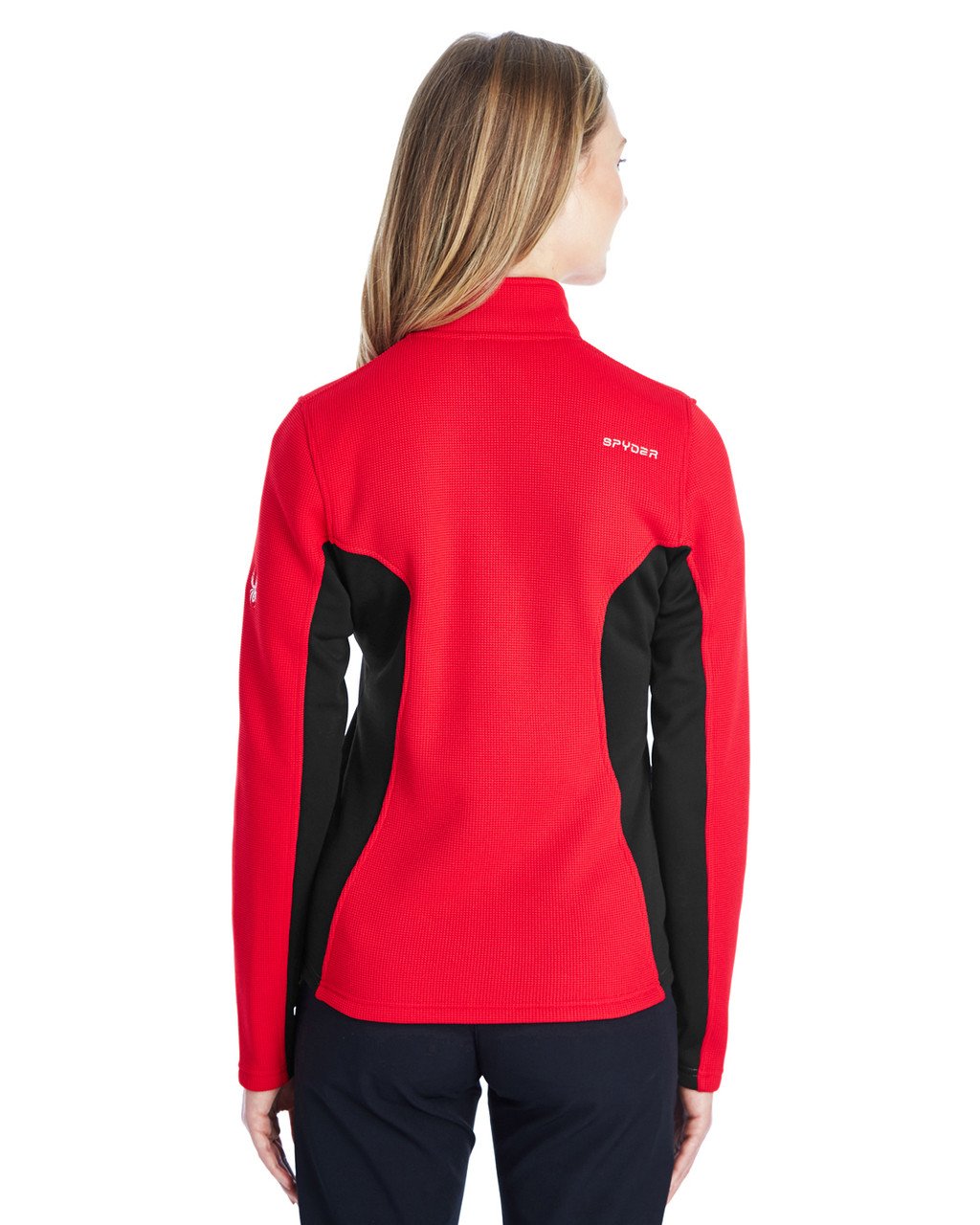 Red/Black/White, Back - 187335 Spyder Ladies' Constant Full-Zip Sweater | BlankClothing.ca