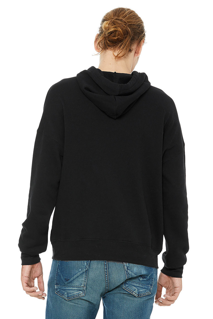 Black - Back, 3729 Bella + Canvas Unisex Dyed To Match Hoodie | BlankClothingc.a