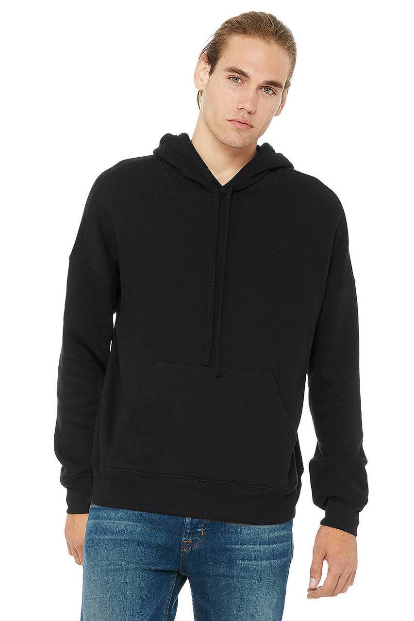 Black - 3729 Bella + Canvas Unisex Dyed To Match Hoodie | BlankClothingc.a