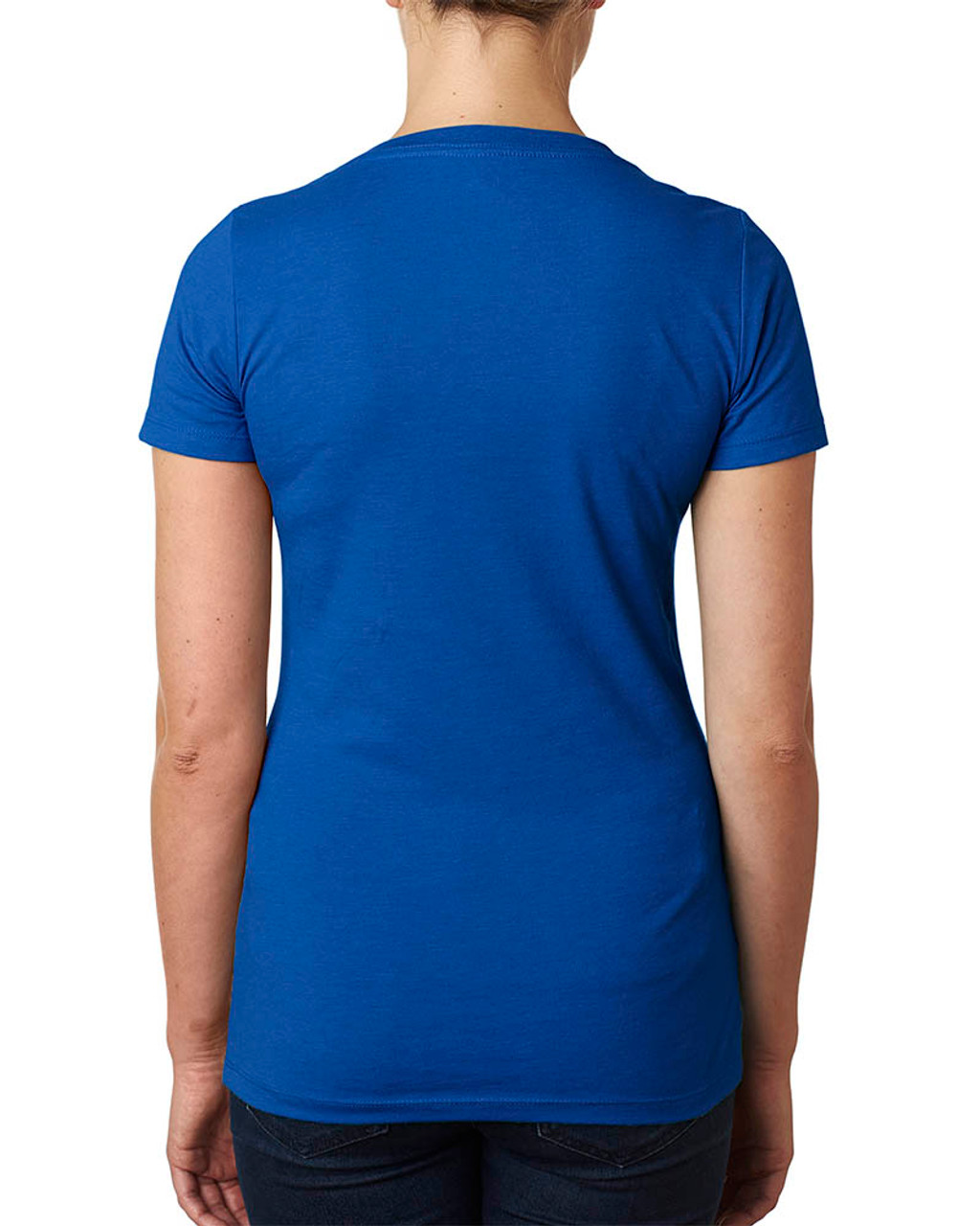 Royal - 6640 Next Level Ladies' CVC Deep V-Neck T-shirt  | BlankClothing.ca
