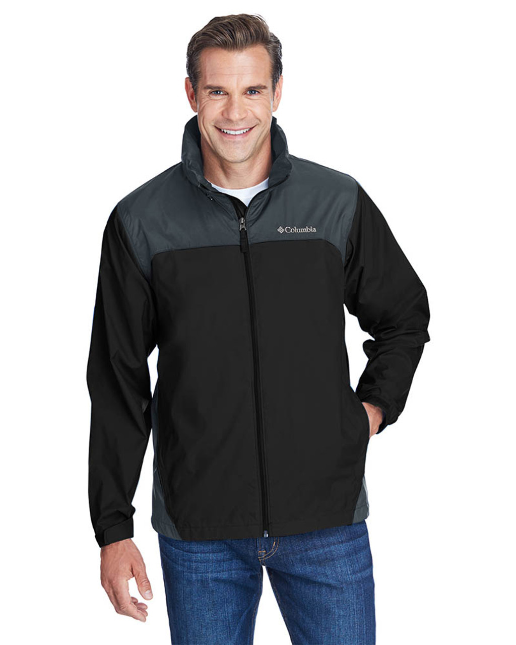 Black/Grill - 2015 Columbia Men's Glennaker Lake™ Rain Jacket  | BlankClothing.ca