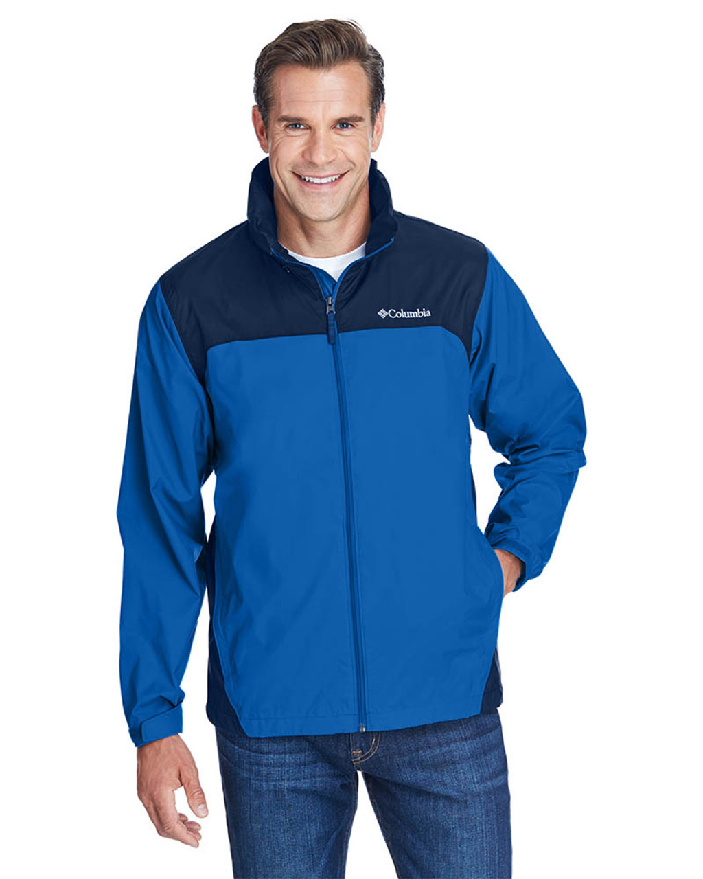 Blue Jay/Navy - 2015 Columbia Men's Glennaker Lake™ Rain Jacket  | BlankClothing.ca