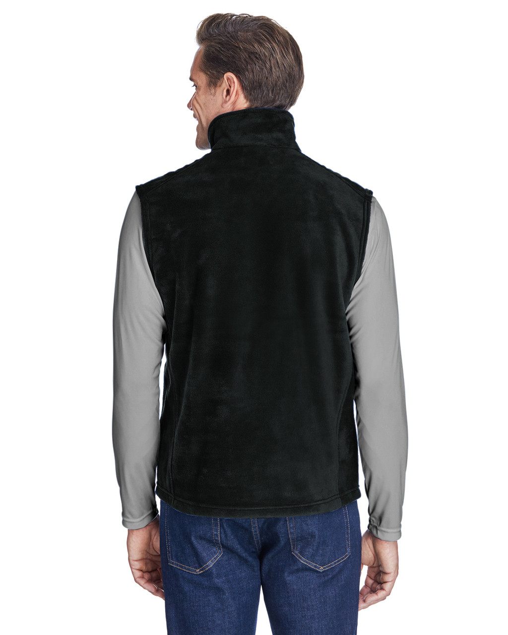 Black, Back - 6747 Columbia Men's Steens Mountain™ Vest | BlankClothing.ca