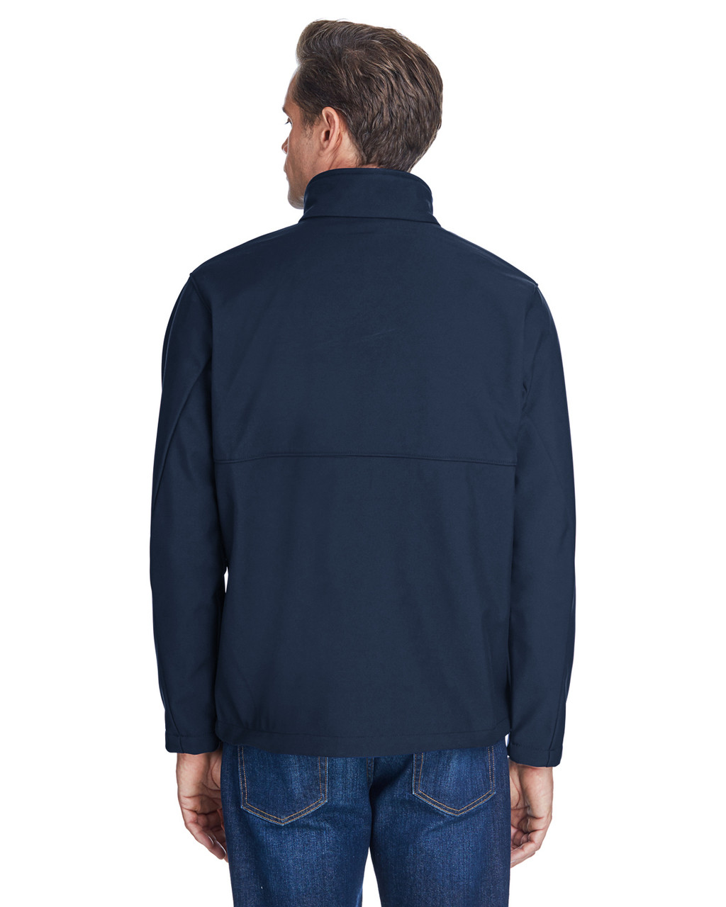 Collegiate Navy -Back  C6044 Columbia Men's Ascender™ Soft Shell Jacket | BlankClothing.ca