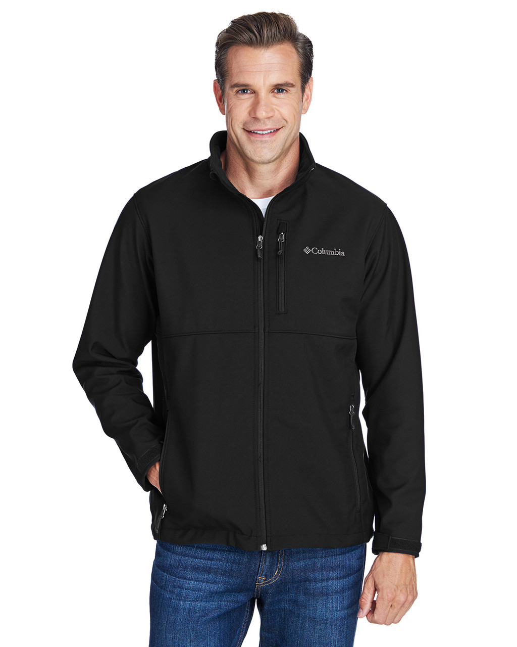 Black - C6044 Columbia Men's Ascender™ Soft Shell Jacket | BlankClothing.ca