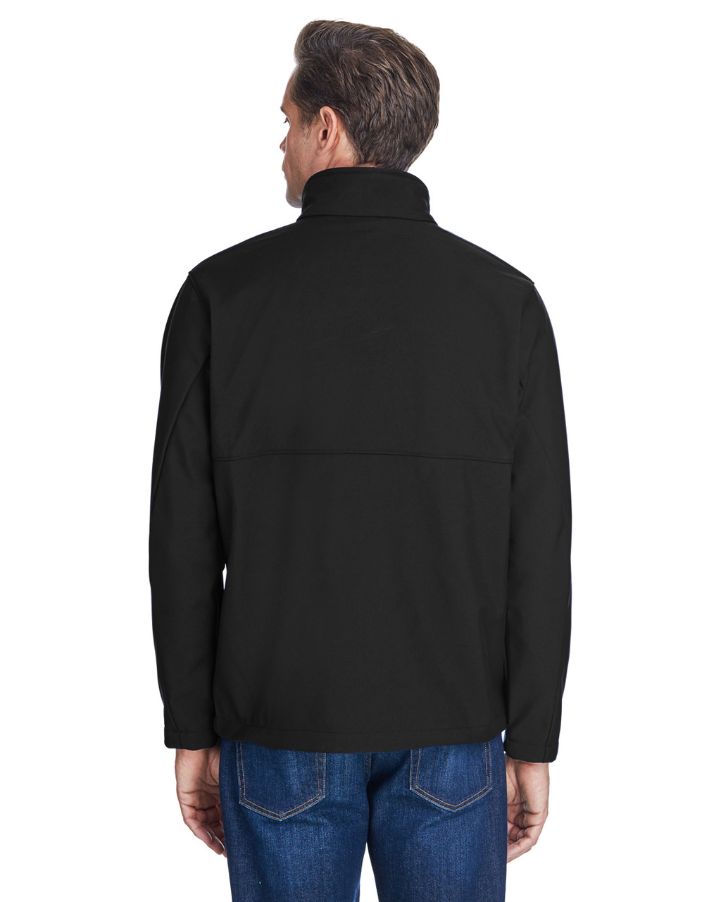 Black -Back  C6044 Columbia Men's Ascender™ Soft Shell Jacket | BlankClothing.ca