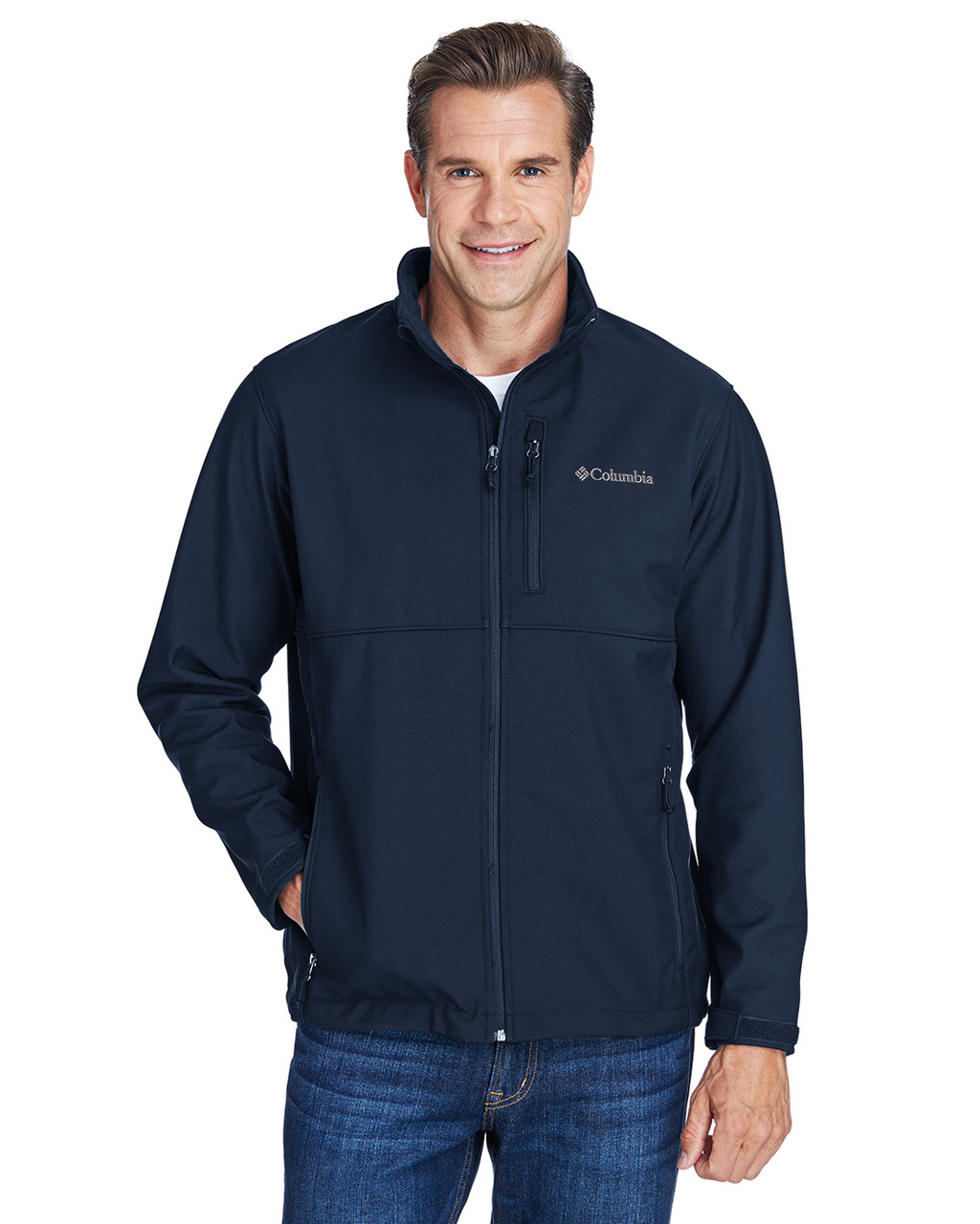 Collegiate Navy - C6044 Columbia Men's Ascender™ Soft Shell Jacket | BlankClothing.ca