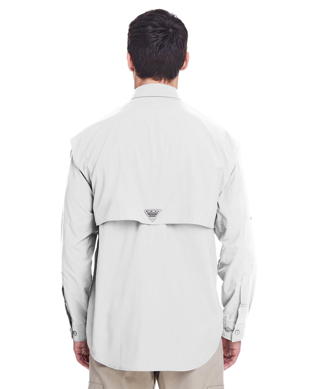 White, Back -  7048 Columbia Men's Bahama™ II Long-Sleeve Shirt | BlankCLothing.ca