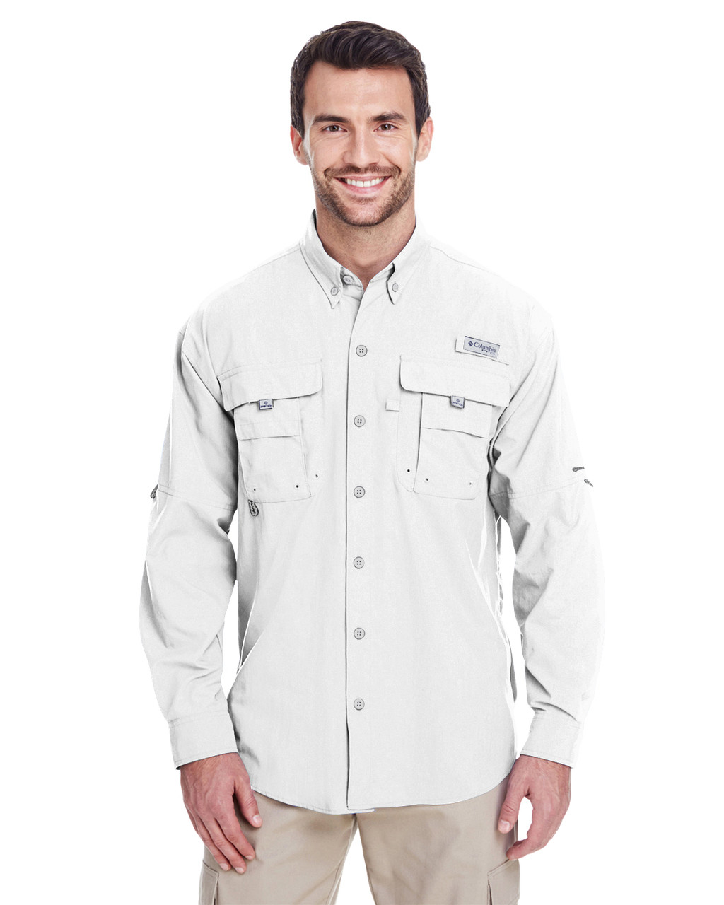 White -  7048 Columbia Men's Bahama™ II Long-Sleeve Shirt | BlankCLothing.ca
