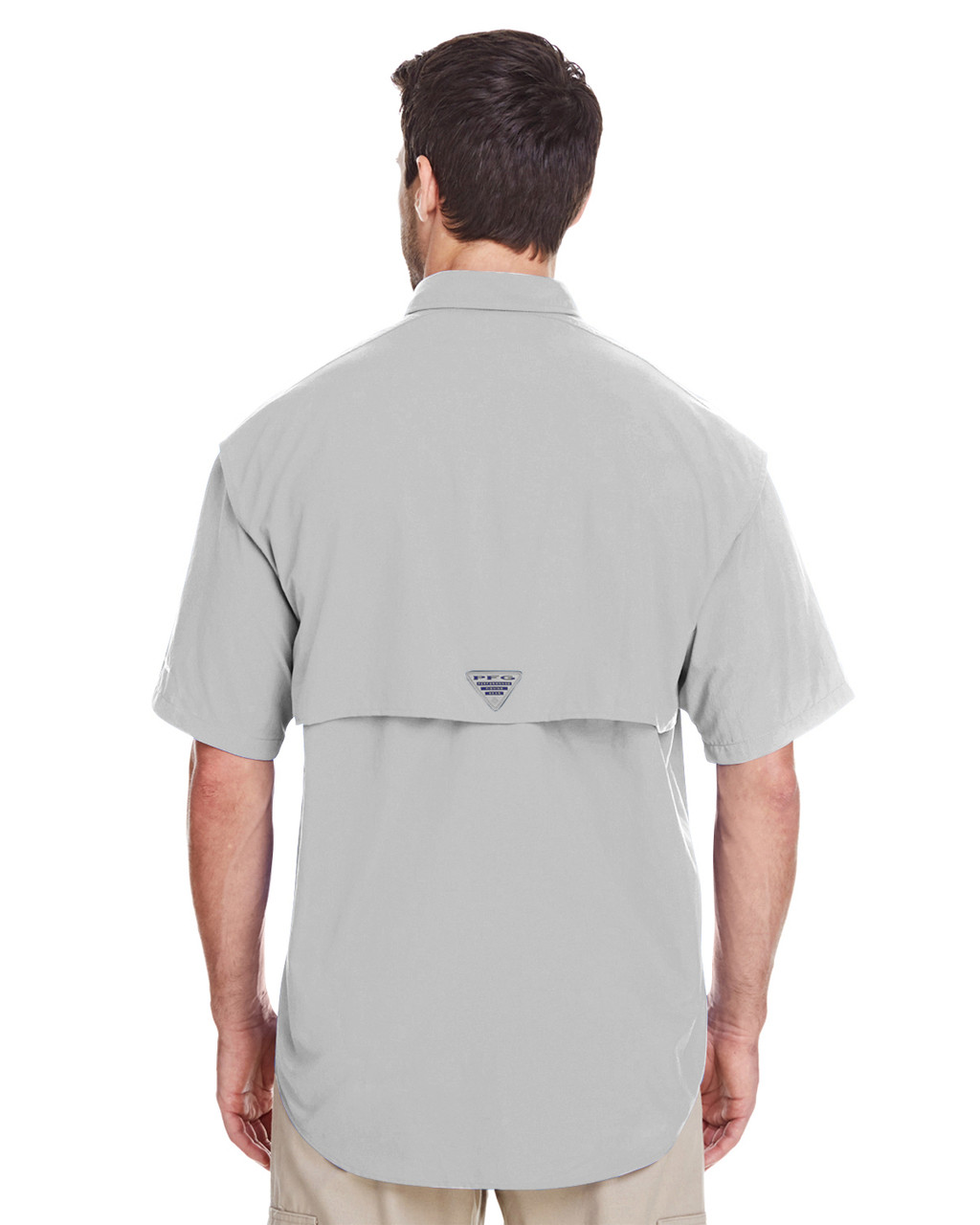 Cool Grey, Back - 7047 Columbia Men's Bahama™ II Short-Sleeve Shirt | BlankClothing.ca