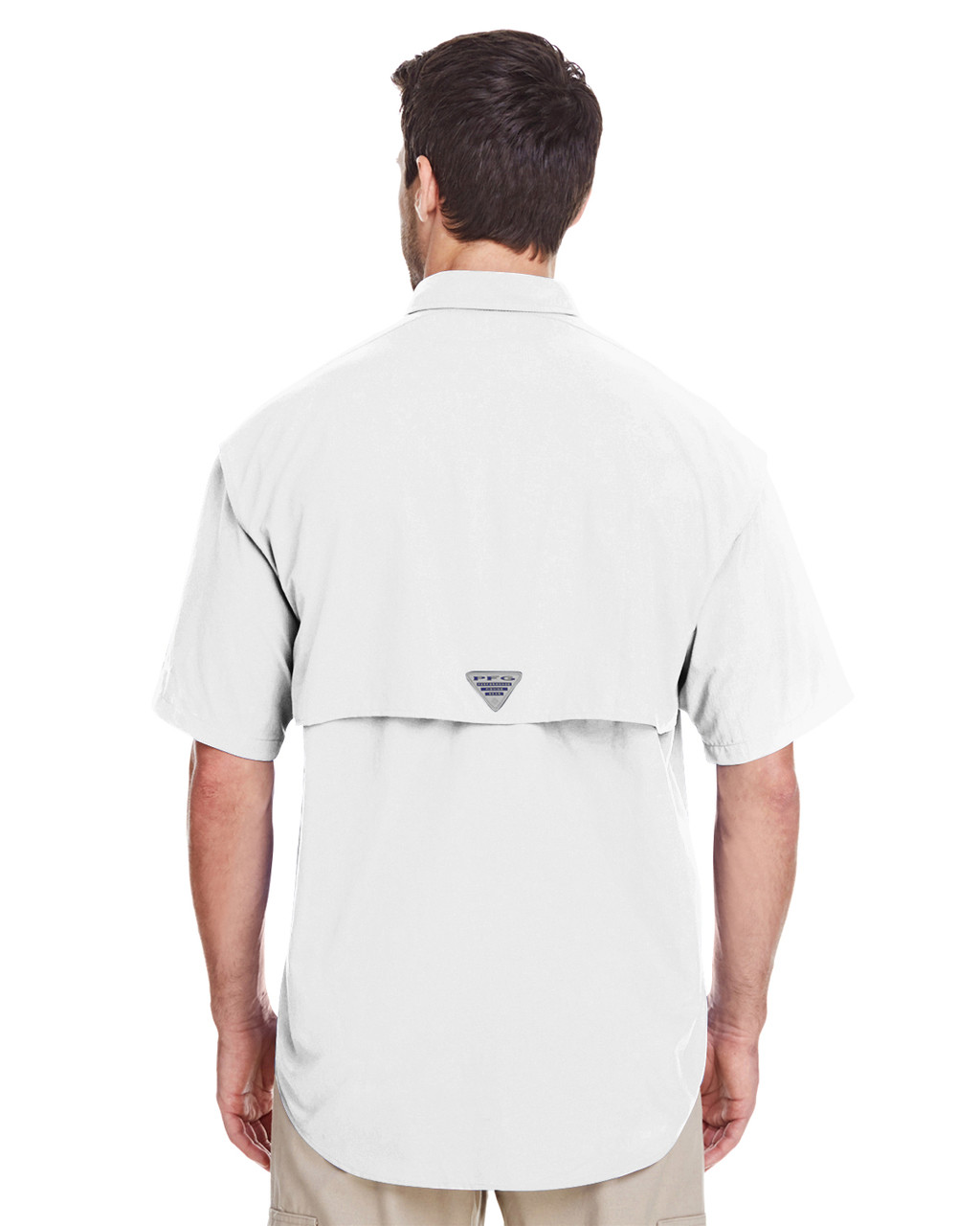 White, Back - 7047 Columbia Men's Bahama™ II Short-Sleeve Shirt | BlankClothing.ca