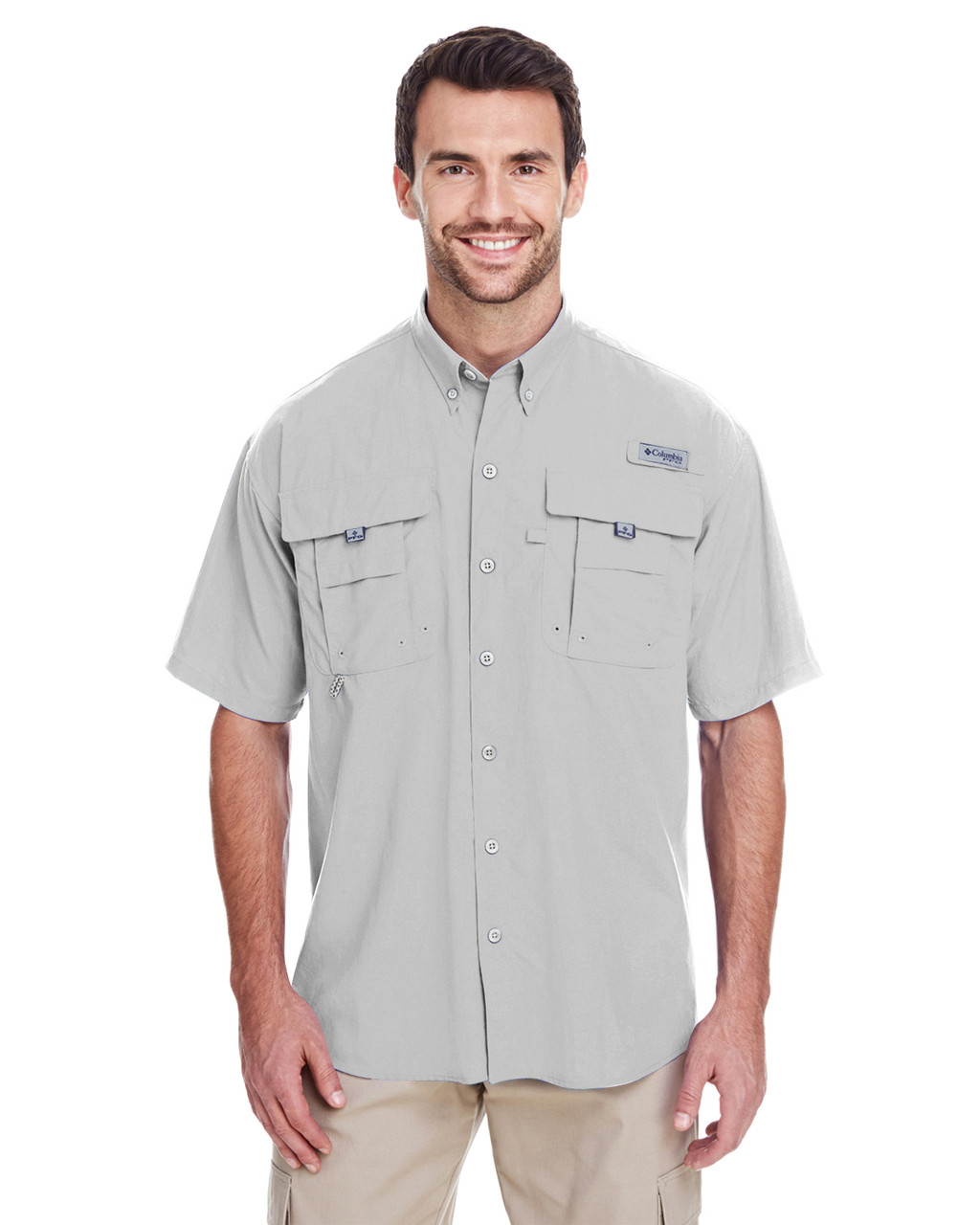 Cool Grey - 7047 Columbia Men's Bahama™ II Short-Sleeve Shirt | BlankClothing.ca