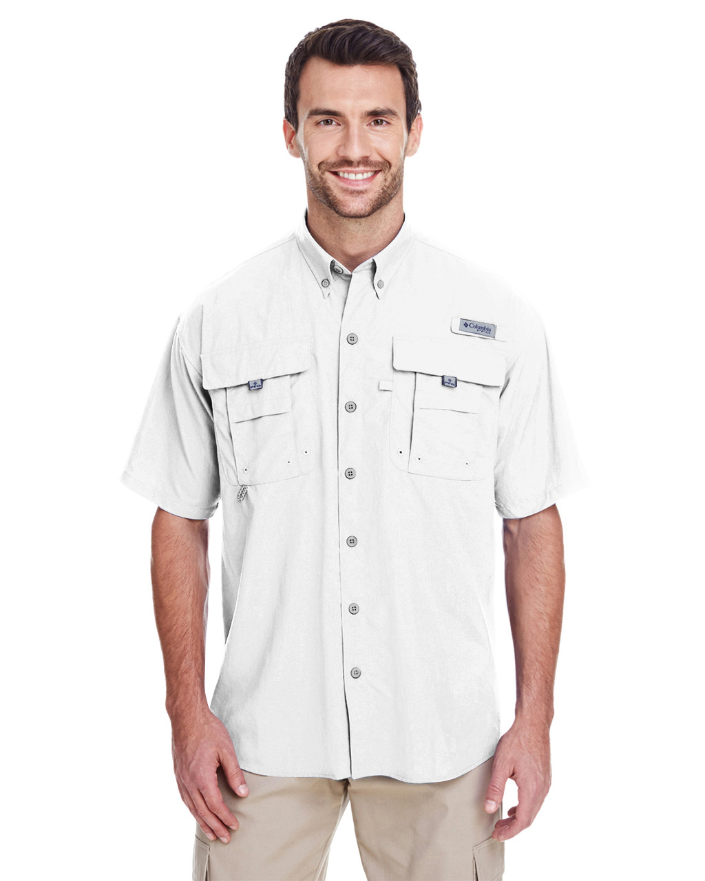 White - 7047 Columbia Men's Bahama™ II Short-Sleeve Shirt | BlankClothing.ca